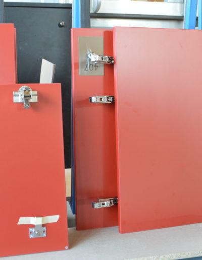 Portes de casiers de vestiaires