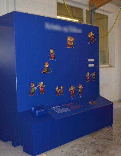 Panneau didactique pour musée